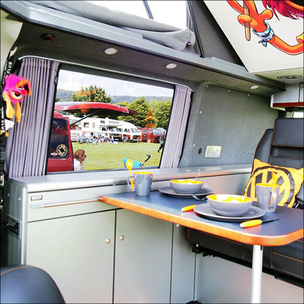 VanX, VW T4, Premium Set, 3 x Vorhang für die Seite, 1x Vorhang für die Flügelt