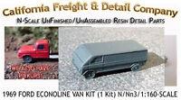1969 Ford Econoline Van Kit N/1:16 California Freight & Details Co