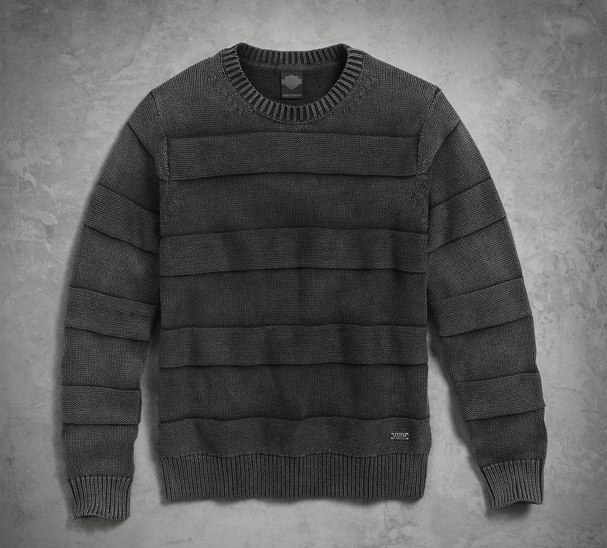 Harley-Davidson Men's Textured Stripe Sweater Jumper 96528-17VM