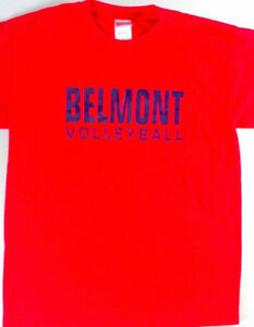 Belmont-Volleyball-T-Shirt-Womens-Medium-Bruins-Cotton-Red-Nashville-Tennessee