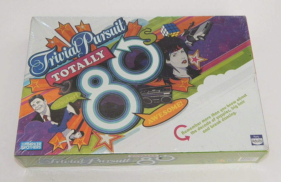 Trivial Pursuit Game TOTALLY 80s Edition New Sealed Parker Bredhers Hasbro R9573