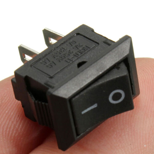 On//Off Rectangle Rocker Switch+Waterproof Cover Car Dash Boat SPST 12V 5pcs AN5X