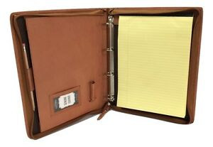 Brown-Leather-A4-Folder-Organiser-Portfolio-option-to-Personalise-IT08-4ring