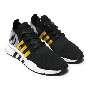 8aac979c8b63 Men s Adidas EQT Support Mid ADV CQ2999 Primeknit Black Yellow SZ 7 ...