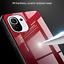 miniatura 3 - COVER per Xiaomi Mi 11 Lite CUSTODIA ORIGINALE Gradient Glass + VETRO TEMPERATO