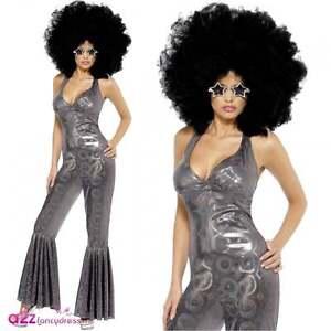 70-039-s-Disco-Diva-Traje-Adulto-del-Catsuit-del-Mono-Adult-Fancy-Dress-Senoras