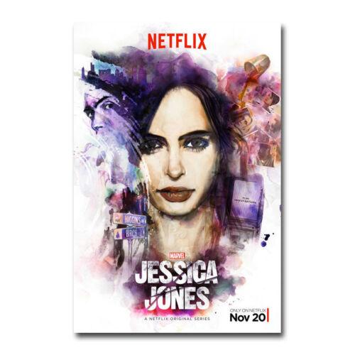 Jessica Jones Hot Movie Art Silk Canvas Poster 12x18 24x36 inch