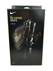 Nike GK Vapor Grip3 Goalkeeping Gloves Size 6 Black GS0347-011 Mens ... 257dc59276