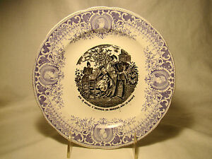 image is loading transferware pexonne french fine faience 2 color napoleon - Faience Colore