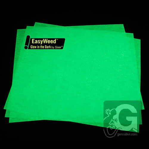 """T-SHIRT IRON-ON TRANSFER VINYL SISER EASYWEED GLOW IN THE DARK,3 SHEETS 12/""""x15/"""""""