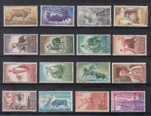 SPAIN-1960-MNH-COMPLETE-SET-SC-SCOTT-909-20-C159-62-BULLFIGHTING