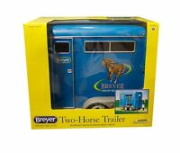 Breyer Horses Traditional Size Two Horse Trailer, Blue 2617