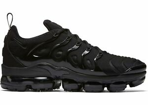 1b6c6107b0d NIKE AIR VAPORMAX PLUS 924453-004 TRIPLE BLACK BLACK DARK GREY MEN ...