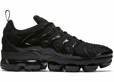 innovative design ea663 e5b64 NIKE AIR VAPORMAX PLUS 924453-004 TRIPLE BLACK BLACK DARK GREY MEN size  8-13 | eBay