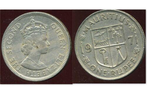 MAURITIUS ILE MAURICE 1 one rupee  1971 etat
