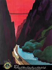 Rio Grande Vista Dome Zephyr Railroad U.S. Travel Poster Advertisement Poster