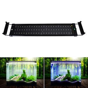aquarium led beleuchtung marine aquarium wei blau licht pflanzen overhead lampe ebay. Black Bedroom Furniture Sets. Home Design Ideas