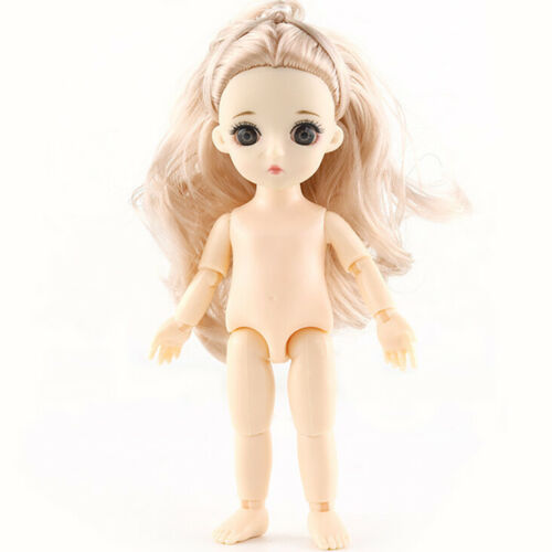16cm 1pcs Girls Dress Up Dolls Send A pair Of Shoes 13 Joint BJD Doll Toys With
