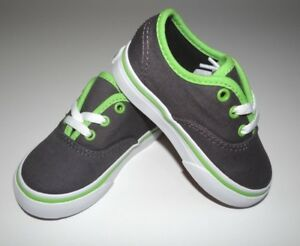 4abf0d9fe6 New Vans Toddler Boys Authentic Binding Pop Canvas Shoes US 5 UK 6 ...
