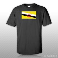 Bruneian Flag T-shirt Tee Shirt Free Sticker Brunei Brn Bn