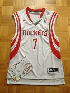pretty nice bcc2c b5810 Details about NWT Jeremy Lin 林書豪 林书豪 Houston Rockets Home Adidas R30  Swingman Jersey Men Small