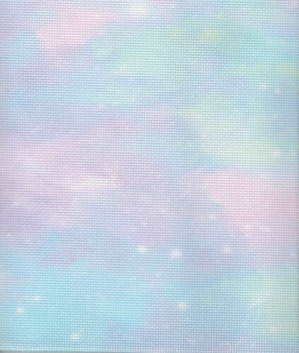 45 x 50cm piece Fabric Flair Cotton Candy Sky 14 count Aida