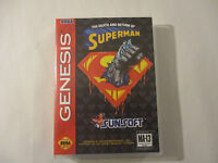 Death And Return Of Superman, The Custom Sega Genesis Case (no Game)