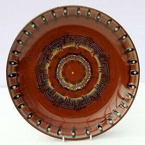 Vintage-Retro-Studio-Pottery-Wall-Hanging-Plate