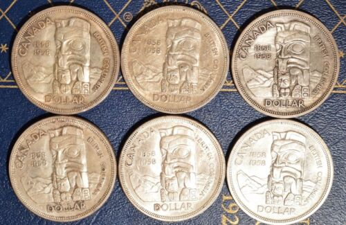 1958-1962 circulated Pick one or more dates .800 FINE Canada Silver Dollars