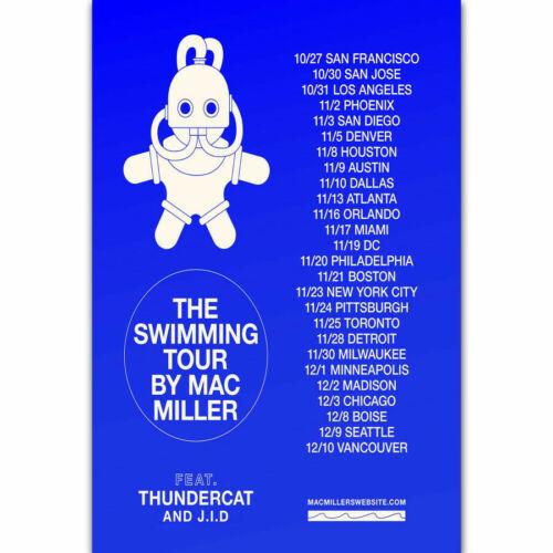 H709 New Mac Miller The Swimming Tour Singer Custom Rap Music Album Poster Art