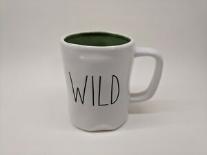 RAE-DUNN-by-Magenta-Artisan-Collection-Coffee-Mug-WILD-with-Green-inside-NEW