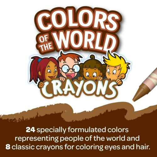 Crayola Colors of the World Coloring Activity Book W// Multicultural Crayon Set