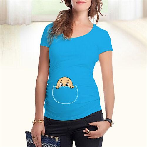 Maglia Premaman Manica Corta T-shirt Short Sleeve Maternity Wear MWTS007