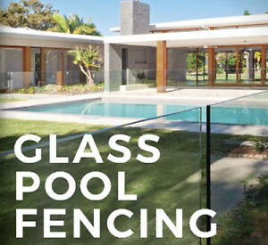 Glass Pool Fence Panels Choose Your Size And Spigot Frameless Pool Fencing Ebay