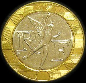france 10 francs coin 1988 spirit of bastille bi metal ebay. Black Bedroom Furniture Sets. Home Design Ideas