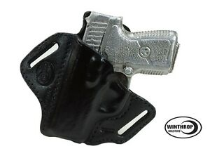 Kahr PM9 OWB Shield Leather Holster LEFT Hand Black | eBay