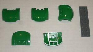 6189118 Brick 98835 5x LEGO NEW 3x4x1.33 Dark Stone Grey Curved Vehicle Front