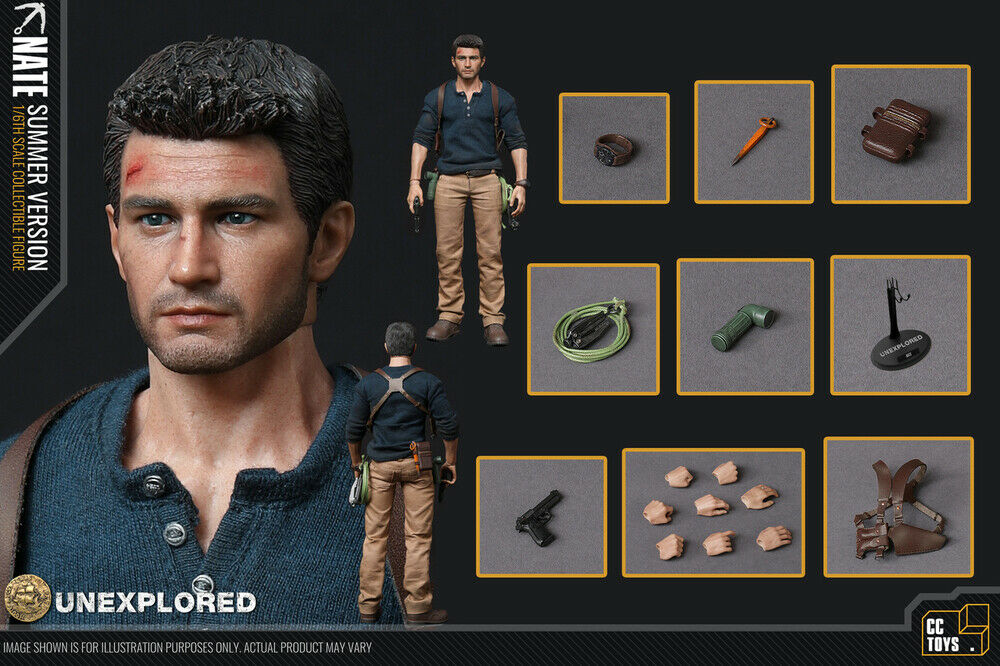 (US) 1 6 CC Toys Nate Unexplored Summer Version Uncharted Nathan Drake New