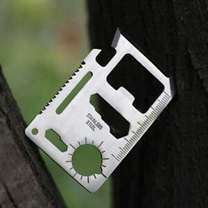 16-in-1 Wallet Pocket Credit Card Camping Outdoor Survival EDC Multifuction Tool