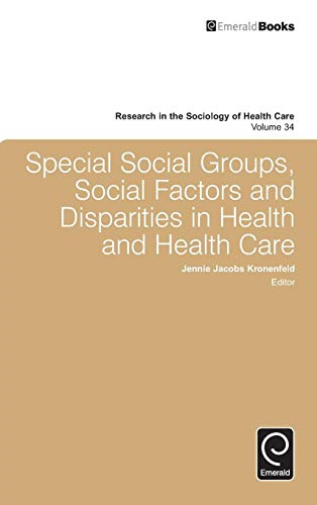 -Special Social Groups, Social Factors And Disparities In Health And BOOKH NEUF