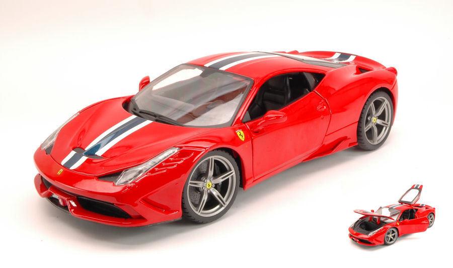 Ferrari 458 speciale 2014 rote 1,18 modell 16002r bburago