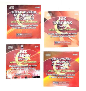 Details about CD: Selected Surah's Quran Recitation CD's with English  Translation- Set of 4