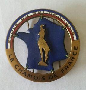 Ordonné Insigne Chamois Bronze École Du Ski Français 1er Modèle Années 50-60 Augis Lyon