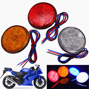 24LED-12V-Brake-Stop-Light-Motorcycle-Rear-Tail-Lamp-Round-Reflector-Light-2x