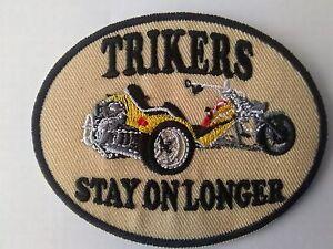 trikers stay on longer sew stick on patch ebay