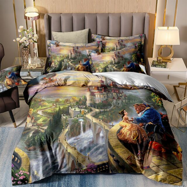 Beauty And The Beast Single Duvet Cover, Disney Belle Double Bedding