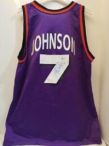 453db37dc VINTAGE 90 S CHAMPION NBA PHOENIX SUNS KJ KEVIN JOHNSON  7 JERSEY ...