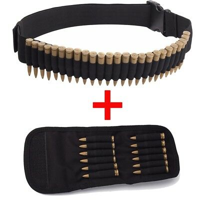 "25 Round 55"" Rifle Bullet Belt For .410 High Quality And Low Overhead Charitable 12 Round Rifle Cartridge Padded Pouch Sporting Goods"
