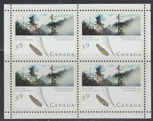 CANADA-1284a-39-Majestic-Forests-of-Canada-Souvenir-Miniature-Pane-of-4-MNH
