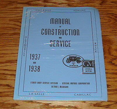 BUICK CADILLAC /& LASALLE GM Fisher Body Shop Manual 37-38 1937-1938 OLDSMOBILE